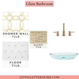Floor and Decor Glam Bathroom Mood Board