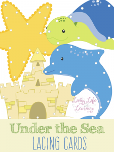 Under the Sea Lacing Cards