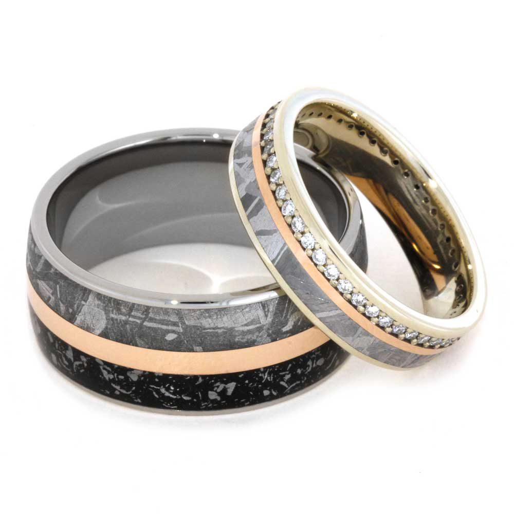 His And Hers Handmade Wedding Bands Boomer Style