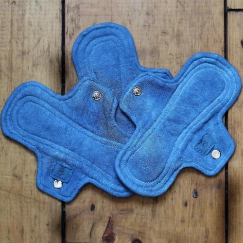 indigo dyed cloth moontime pads