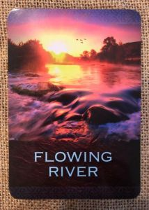 flowing river native spirit oracle card