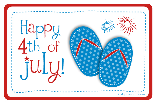 Fourth Of July Free Printable Tags