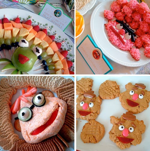 Muppets Party Food Ideas - Kermit, Fozzie Cookies, Scooter Cheeseball