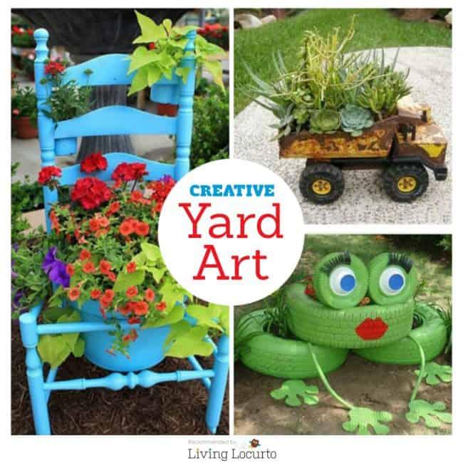 26 DIY Yard Art Crafts - Home Decor Garden Ideas on Handmade Diy Garden Decor  id=38868