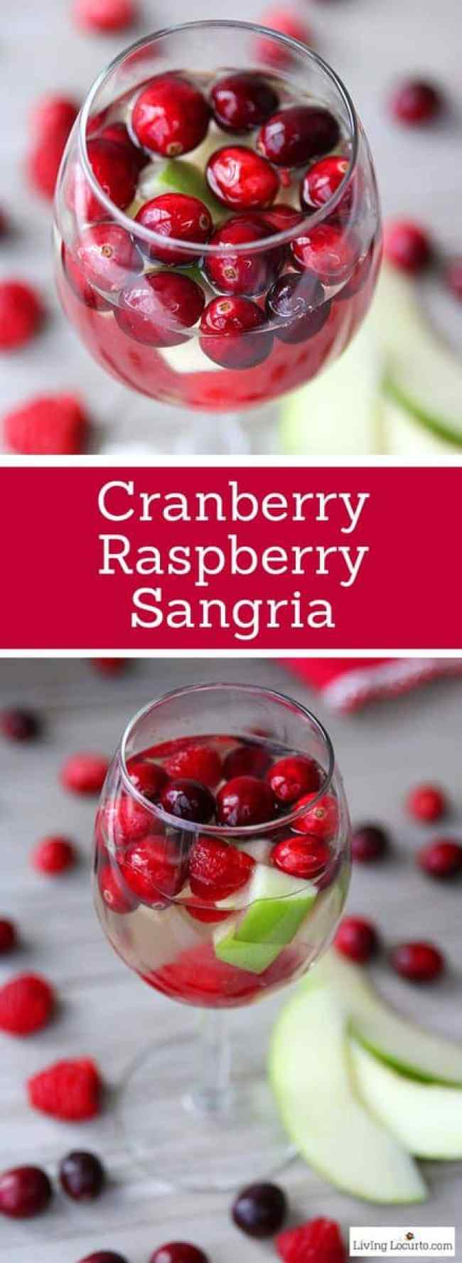christmas sangria recipe easy cranberry raspberry and wine tail