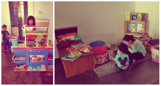 kids playing area & storytelling corner