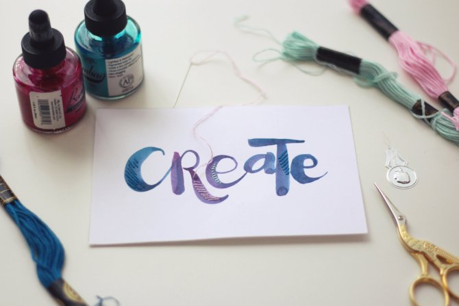 Current Favorite: Embroidered Brush Lettering