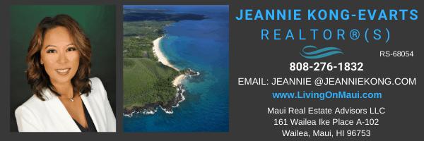Jeannie Kong-Evarts Best realtor for Wailea Makena Maui