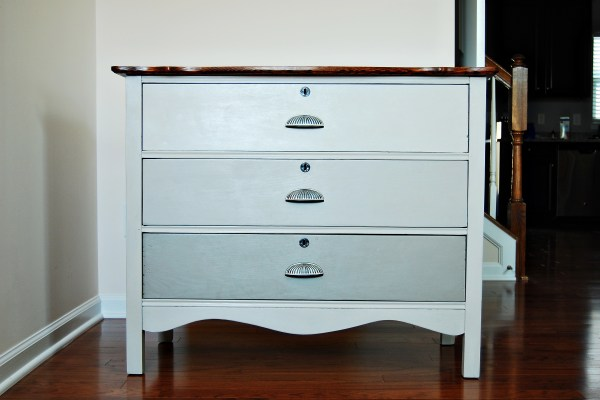 Living on Saltwater - Guest Room Dresser After