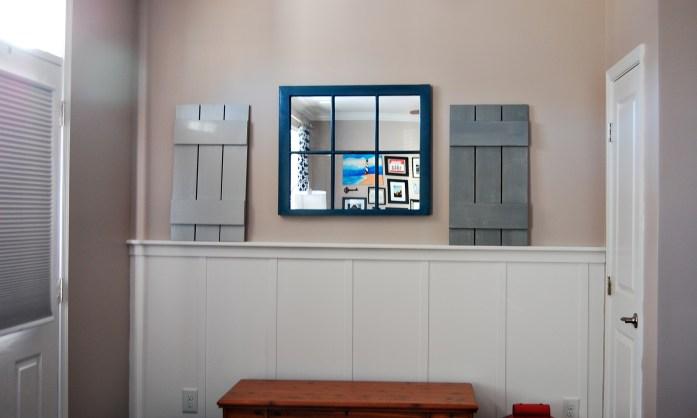 Living on Saltwater - Board and Batten - Shutters - Window Sash Mirror