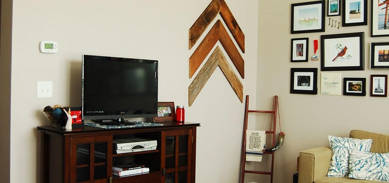 Living on Saltwater - Chevron - Arrows - Reclaimed Wood