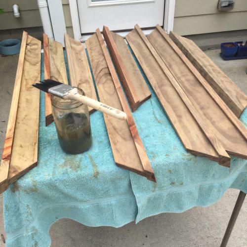 Living on Saltwater - Rustic Industrial DIY Mirror