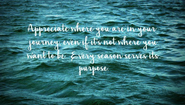 Living on Saltwater - Every Season Serves Its Purpose