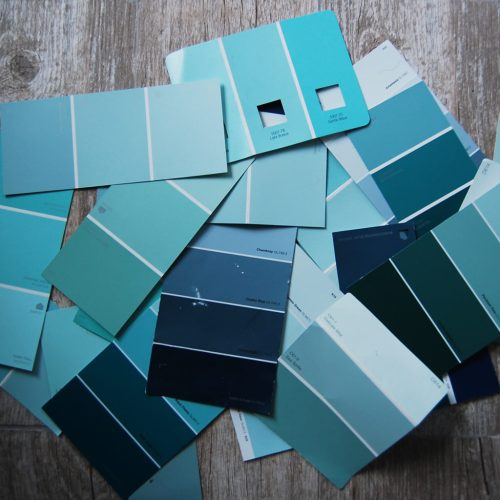 Living on Saltwater - Paint Chips - Master Bathroom