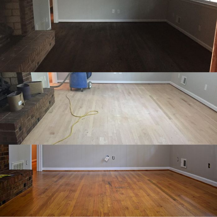 Living on Saltwater - Stained Floors