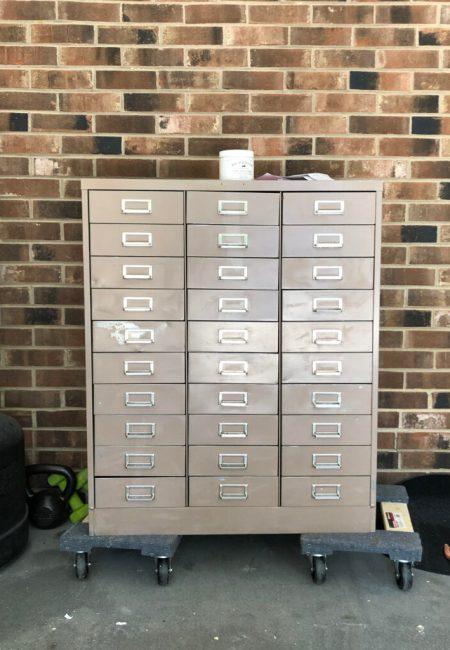 Living on Saltwater - Hardware Cabinet Makeover - File Cabinet Makeover