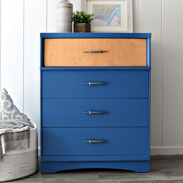 Beautiful Blue Dresser refinished by Living on Saltwater in North Carolina