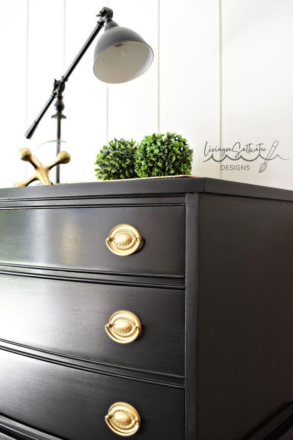 Beautiful Black Dresser Refinished