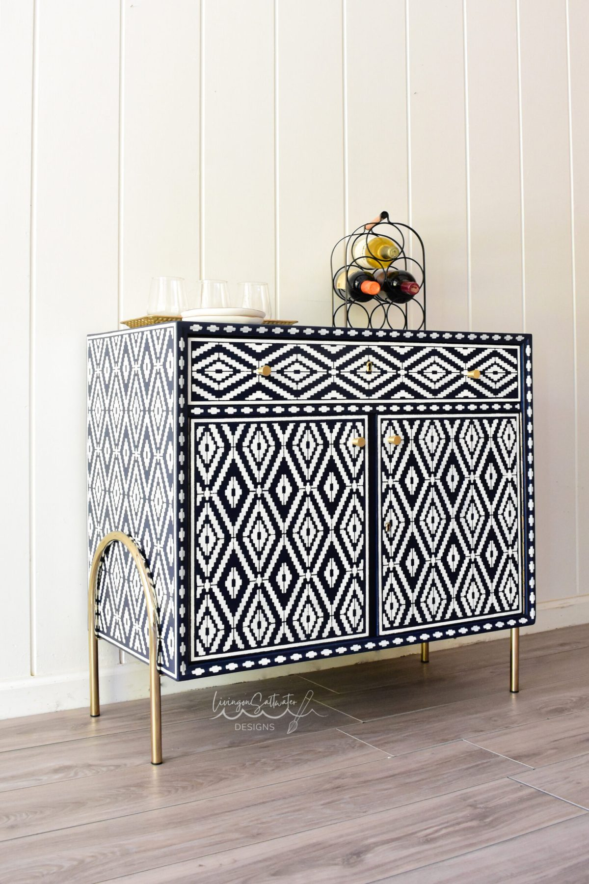 Stencil Furniture Painter Caroline from Living On Saltwater Located in North Carolina