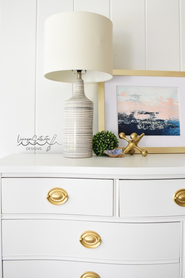 Beautiful White 7 Drawer Dresser - Dixie Furniture - Refinished by Living on Saltwater - North Carolina