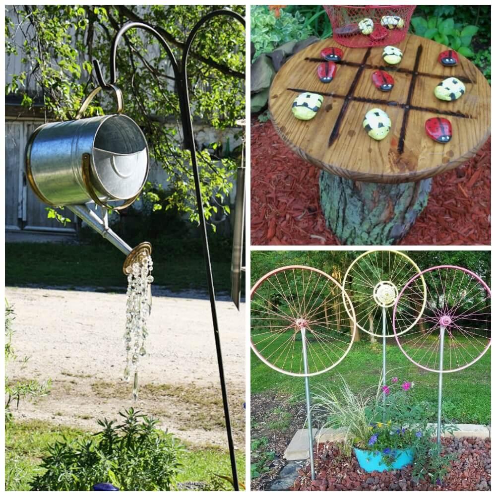 15 DIY Garden Decor Ideas - Watering Can, Spin WheelLiving ... on Easy Diy Garden Decor id=17817
