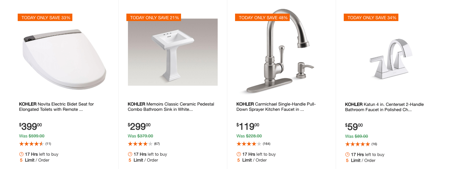 home depot up to 48 off select kohler toilets bathroom hardware and more living rich with coupons