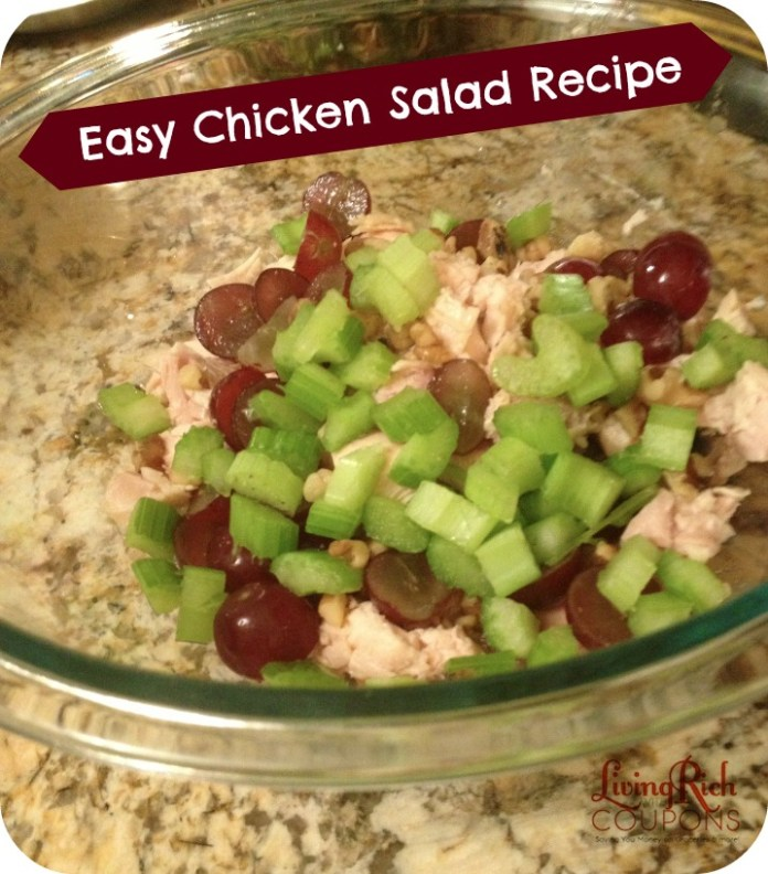 Easy Chicken Salad Recipe Living Rich With Coupons