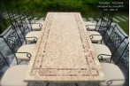 160-200-240cm Italian Mosaic Marble Outdoor Patio Table ... on Outdoor Living Iron Mosaic id=84513