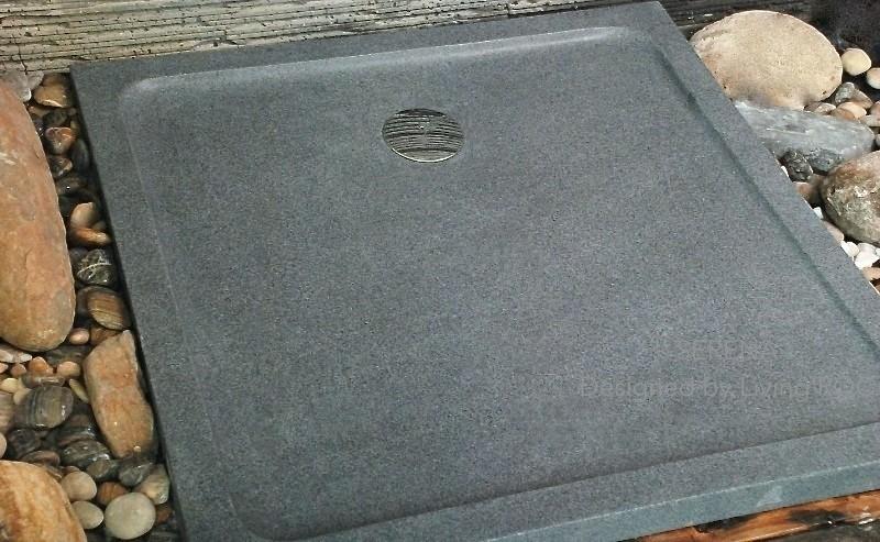 receveur de douche 90x90 en granit veritable extra plat serena