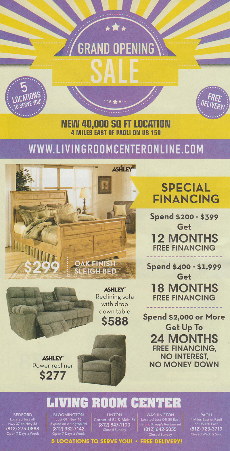 The Living Room Center Linton Indiana