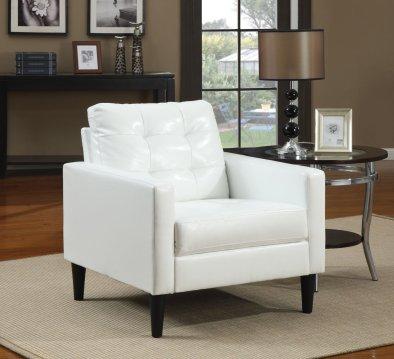 Acme 59048 Balin Accent Chair, White Polyurethane Finish