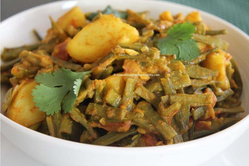 Instant Pot Cluster Beans / Gawar Aloo Ki Sabji