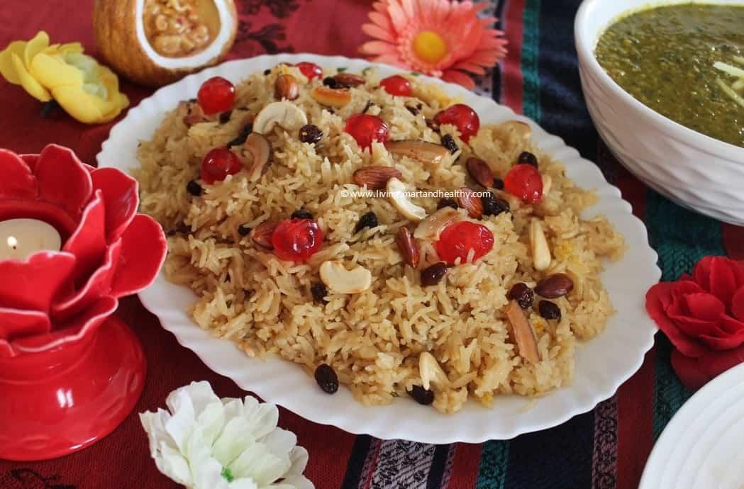 Tahiri / Tayri / Tairi / Sindhi Sweet Rice