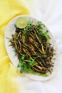 Baked Bhindi Fry (Okra Fry)