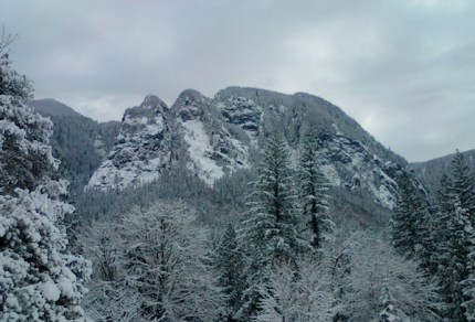 Mt Si from Ernie's Grove by Sue Beauvais