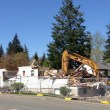Excavators Clear Houses, Making Way for New North Bend Bartell Drugs