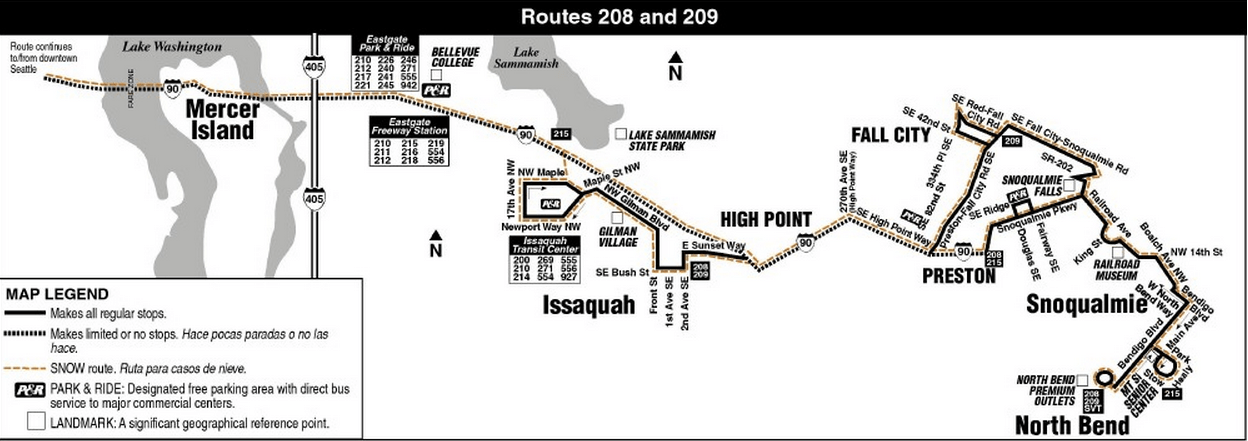 New Snoqualmie Valley Metro Bus Routes Begin September