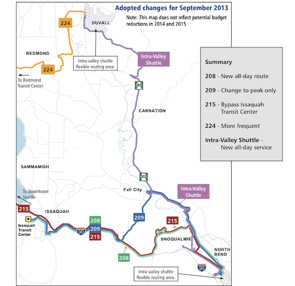 New Metro Bus Route Coming To Snoqualmie Valley More