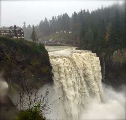 Snoqualmie Falls on 11/13/15 at flood phase level 3.