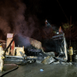 Early morning fire destroys job trailer near downtown Snoqualmie