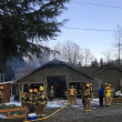 No hydrants near North Bend house fire, tender trucks called to assist crews