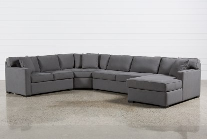 alder foam 4 piece 152 sectional with right arm facing chaise