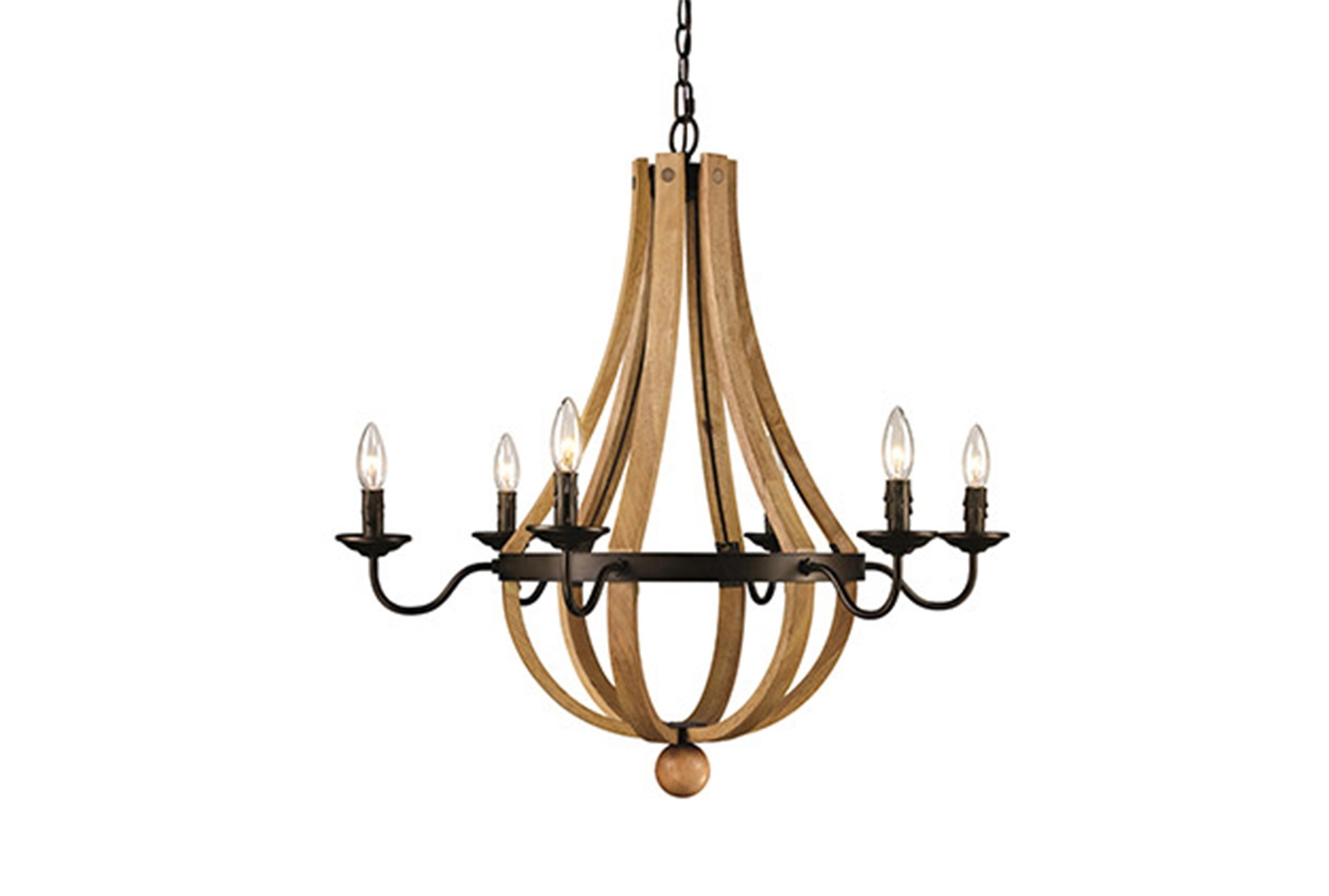 Chandeliers to Fit Your Home Decor   Living Spaces Chandelier Vineyard 6 Light