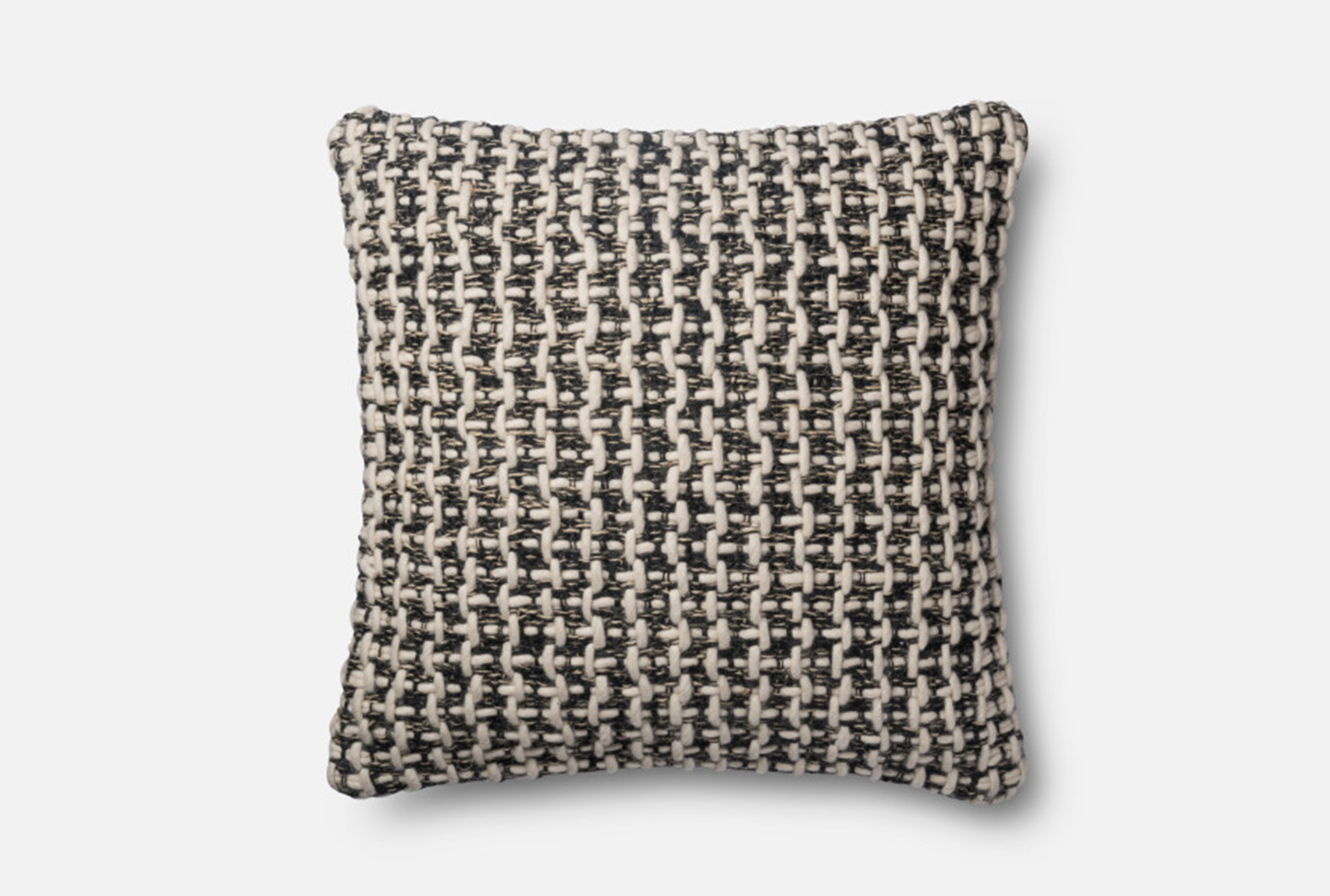 Accent Pillow Magnolia Home BlackWhite Tweed 22X22 By