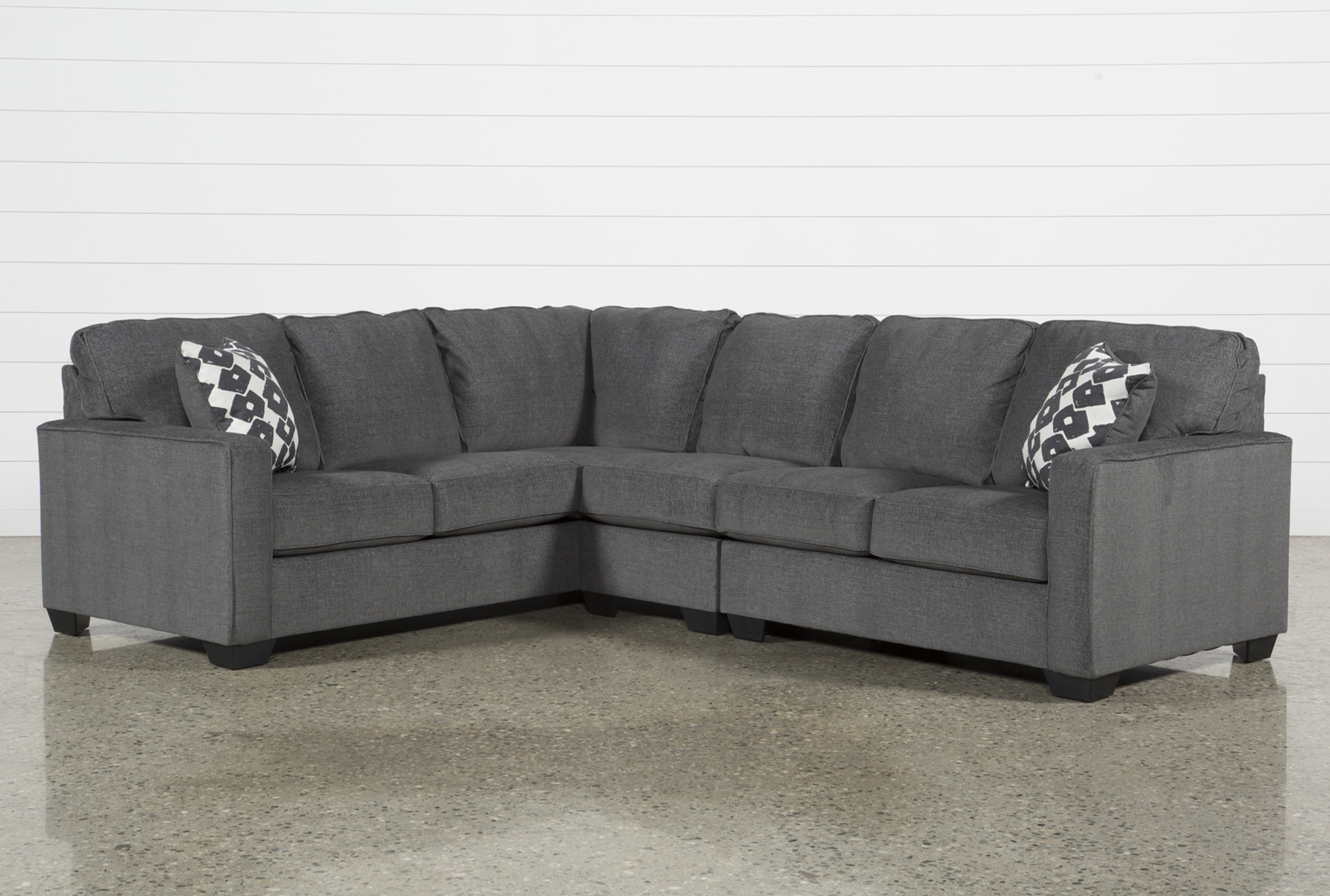 turdur 3 piece 116 sectional with right arm facing loveseat
