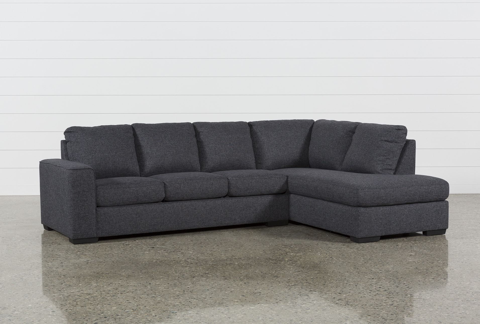 lucy dark grey 2 piece 114 sectional with right arm facing chaise