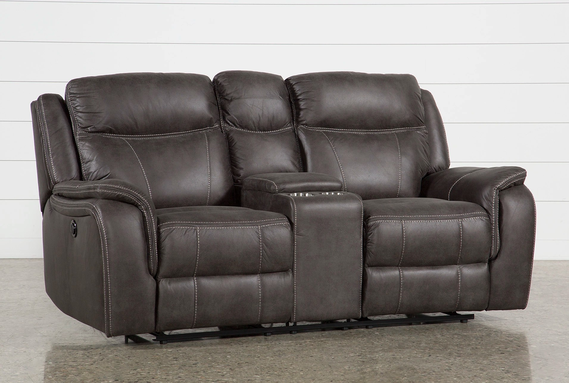 griffin grey 77 power reclining loveseat with console