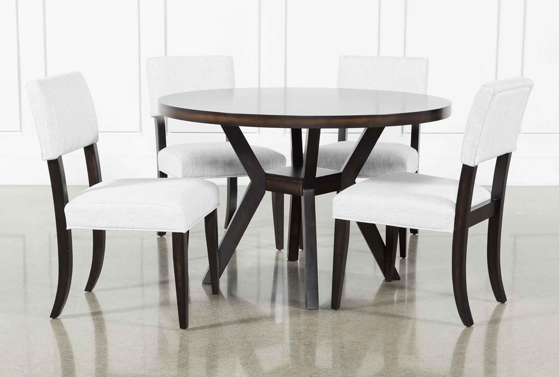 Macie Black 5 Piece Dining Set Living Spaces