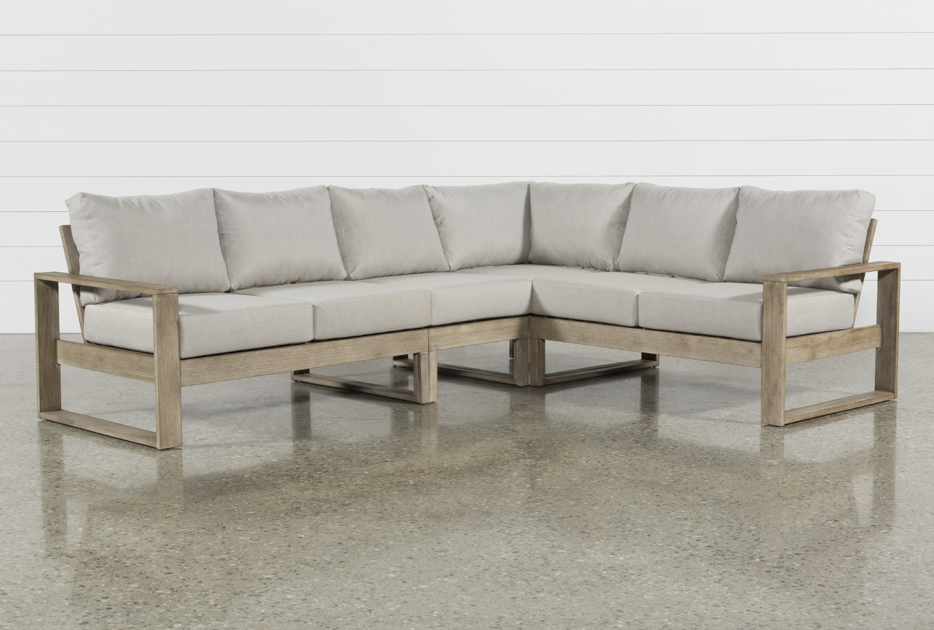 Malaga Outdoor 4 Piece Sectional   Living Spaces on Living Spaces Outdoor Sectional id=62353