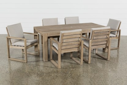 malaga outdoor 7 piece dining set with arm chairs